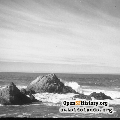 Seal Rock with Crashing Wave