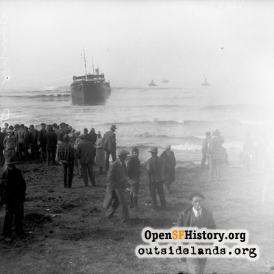 Ship Stranded at Lands End