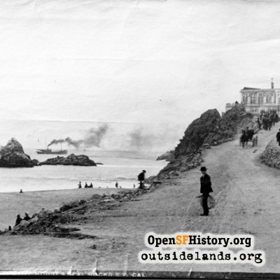 First Cliff House and Seal Rocks