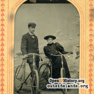 Man & Woman on Bicycles
