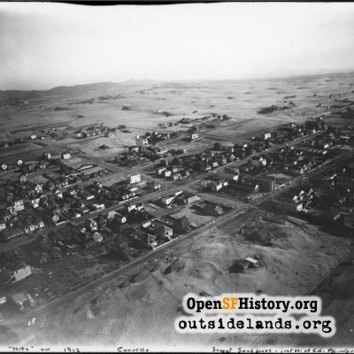 Aerial view Outer Sunset