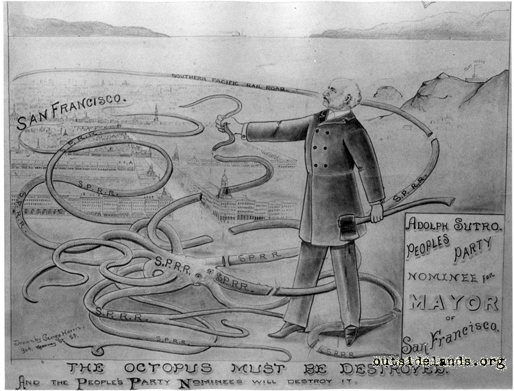 Adolph Sutro Political Cartoon
