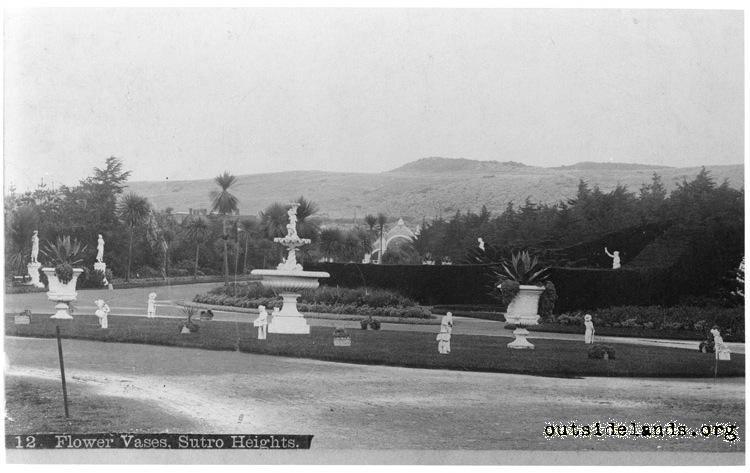 Sutro Heights. Carriage Circle, Main Gate, and Palm Avenue