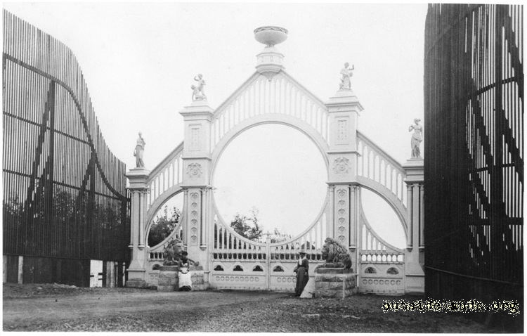 Sutro Heights. Main Entrance Gates