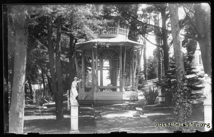 Sutro Heights. Gazebo on Shady Lawn
