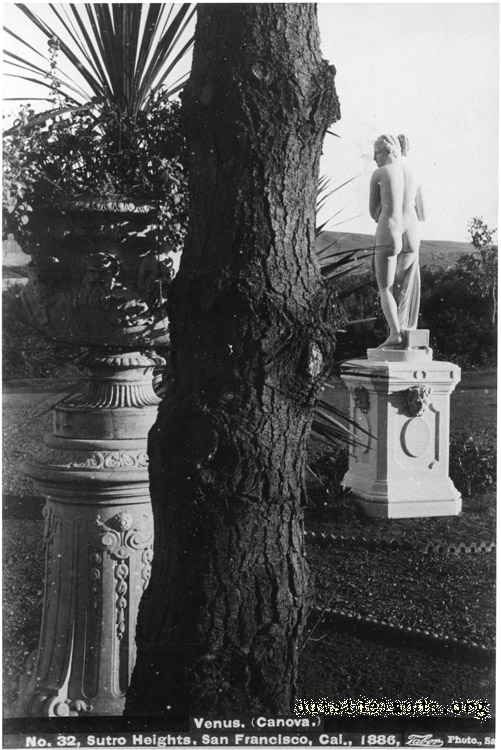 Sutro Heights. Statue of Venus by Canova