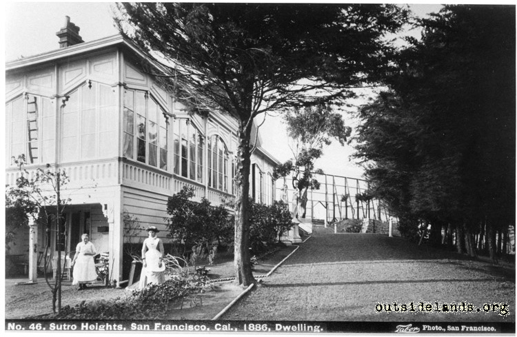 Sutro Heights. Adolph Sutro's residence, east side
