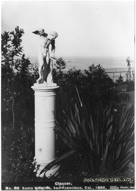 Sutro Heights. Statue of Claquer