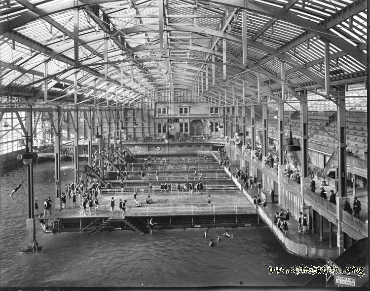 Sutro Baths. View of pools looking north