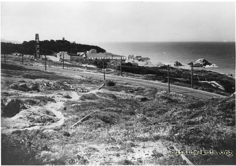Merrie Way, Sutro Heights and Cliff House from Marine Lookout
