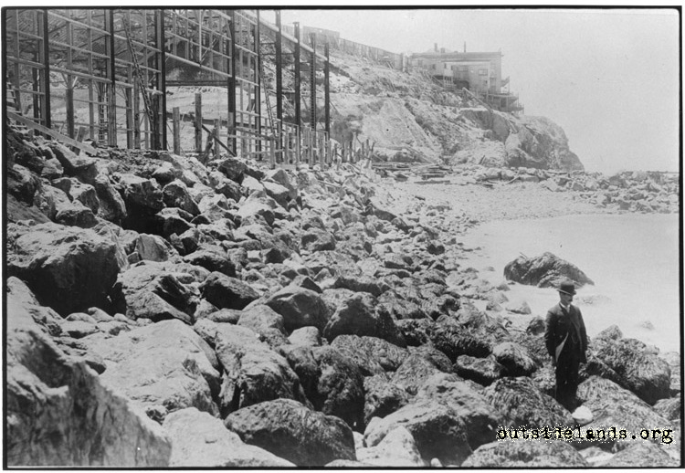 Sutro Baths during construction