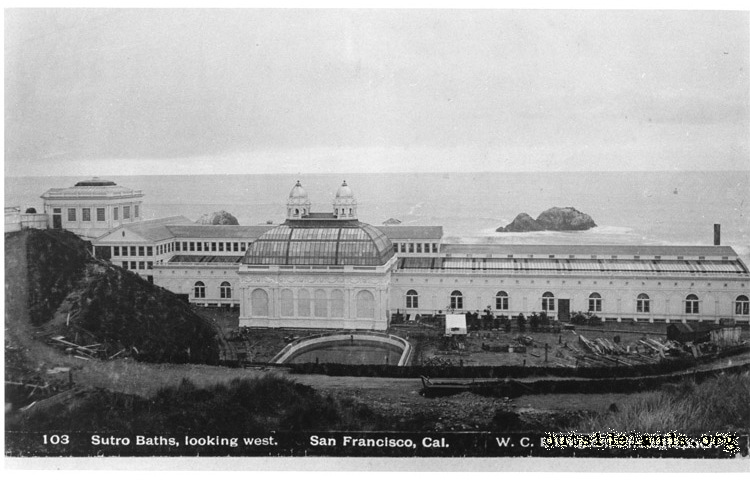 Sutro Baths viewed from Merrie Way