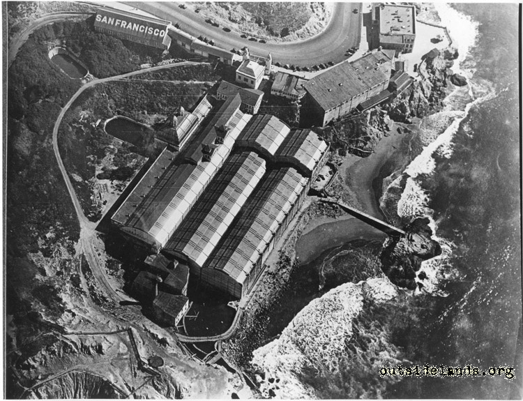 Sutro Baths. Aerial view of Baths and Cliff House