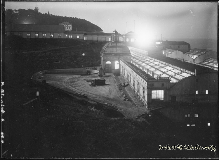 Sutro Baths. Night view of Baths