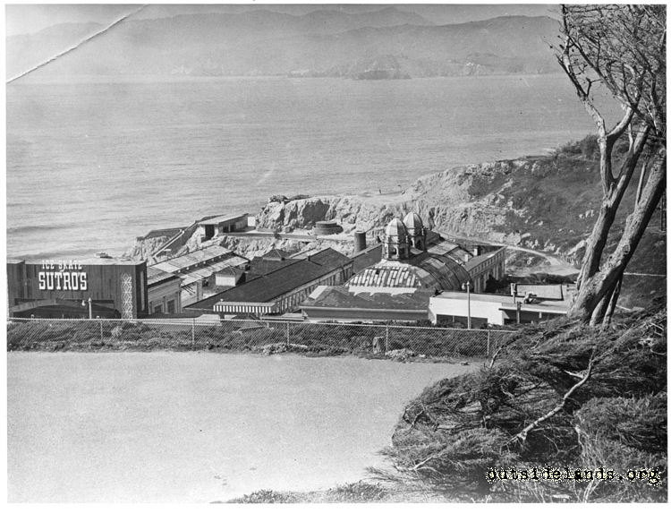 Sutro Baths. Viewed from Sutro Heights looking north