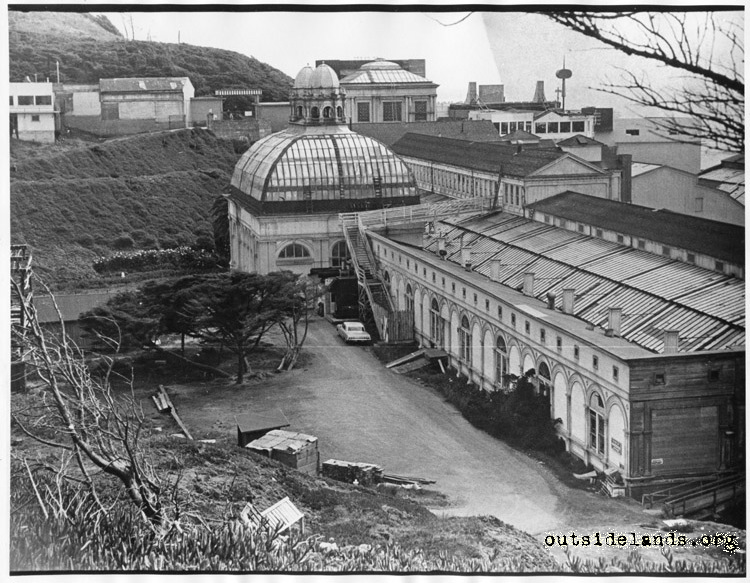 Sutro Baths. Exterior view looking south