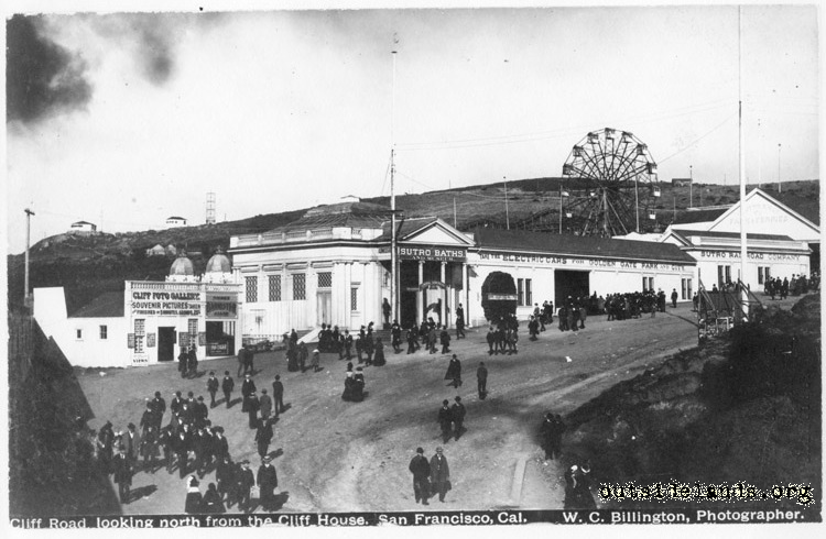 Sutro Baths. Main Entrance on Cliff Avenue