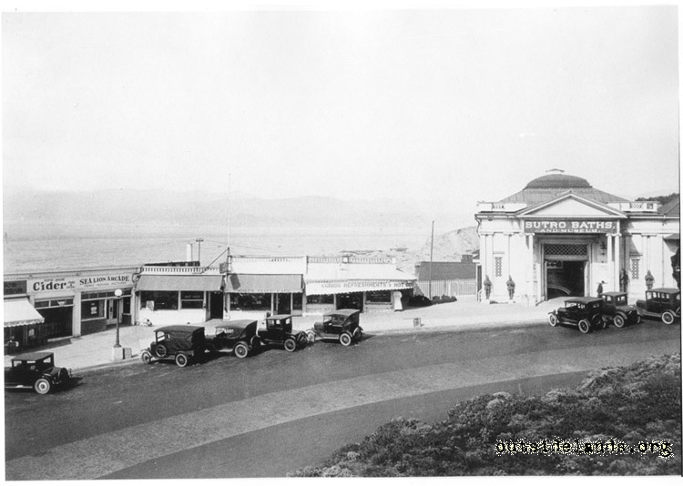 Sutro Baths. Concession stands and main entrance