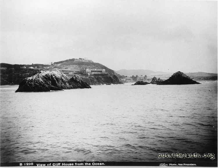 First Cliff House and Sutro Heights from Ocean