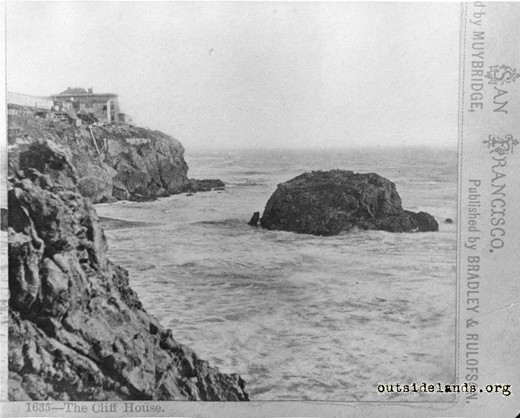 First Cliff House from Point Lobos