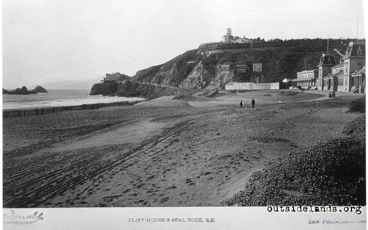 First Cliff House, Sutro Heights, and Ocean Beach Pavilion