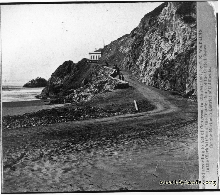 First Cliff House looking north on Cliff Road