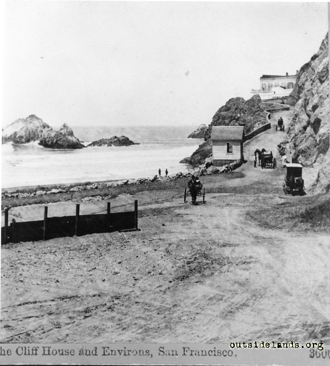 First Cliff House looking northwest on Cliff Road