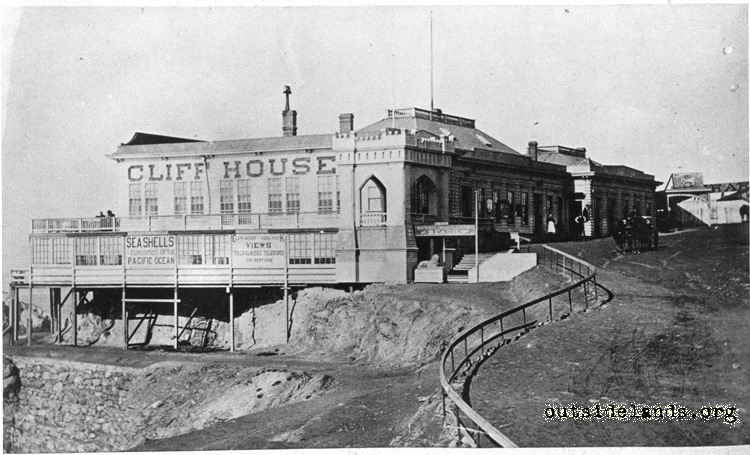 First Cliff House looking northwest from Cliff Road
