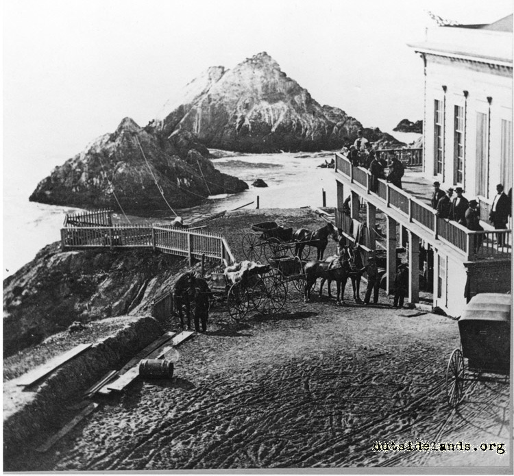 First Cliff House. Road around south end of building