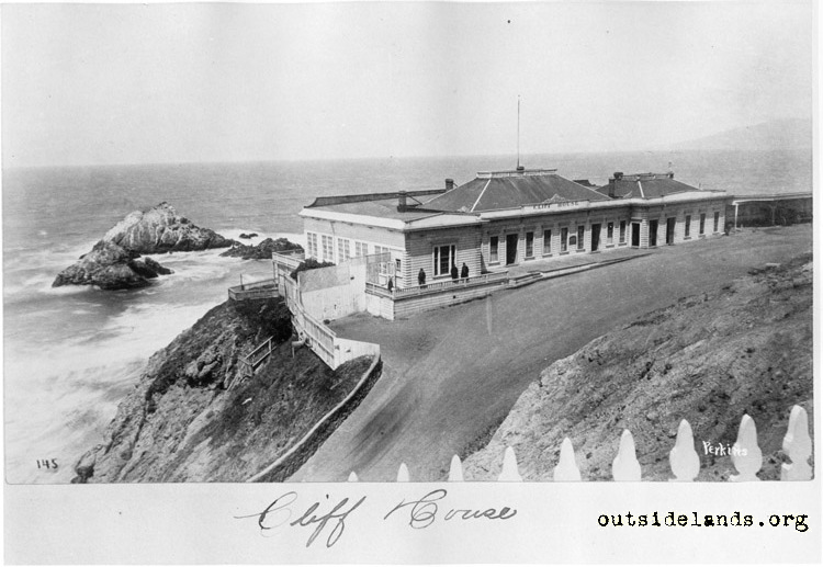 First Cliff House from future Sutro Heights