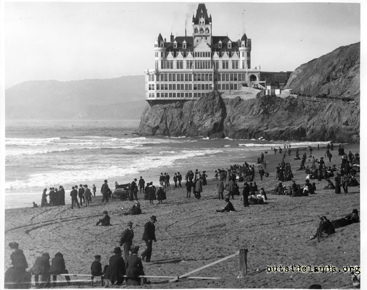 Second Cliff House from Ocean Beach