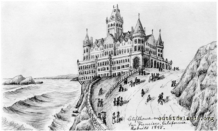 Second Cliff House. Artist's concept for new building