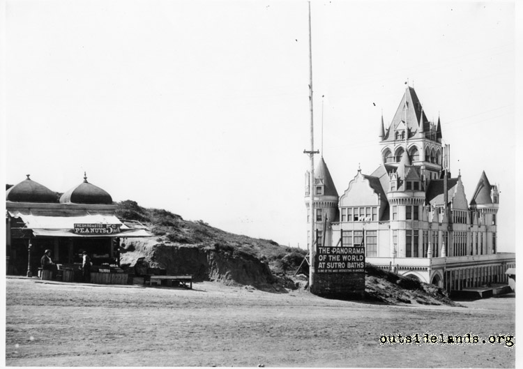 Second Cliff House. View southwest from Cliff Avenue