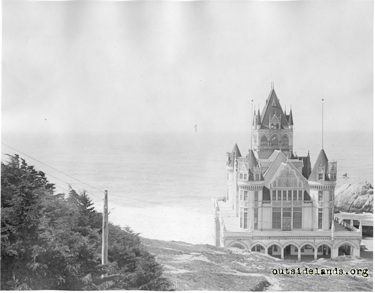 Second Cliff House. View west from Sutro Heights