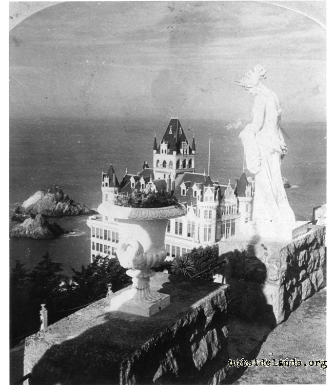 Second Cliff House. Viewed from Sutro Heights Parapet
