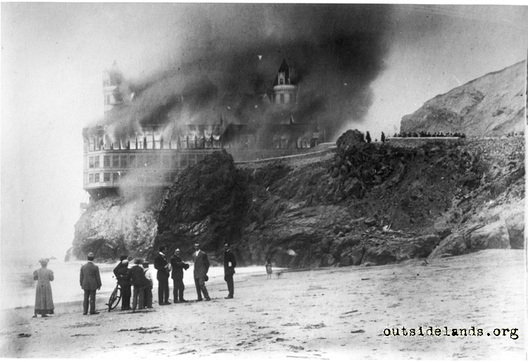 private collector images western neighborhoods project cliff house fire 1907 cliff house ireland