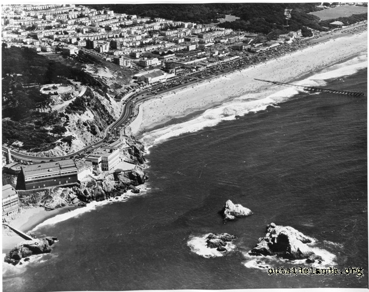 Aerial view of Cliff House, Ocean Beach & vicinity
