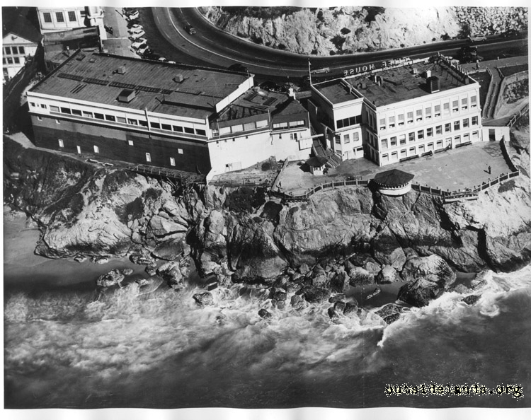 Aerial view of Cliff House