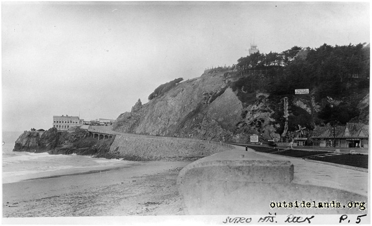 Third Cliff House and Sutro Heights from esplanade
