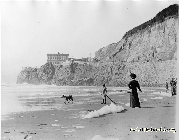 Third Cliff House from Ocean Beach