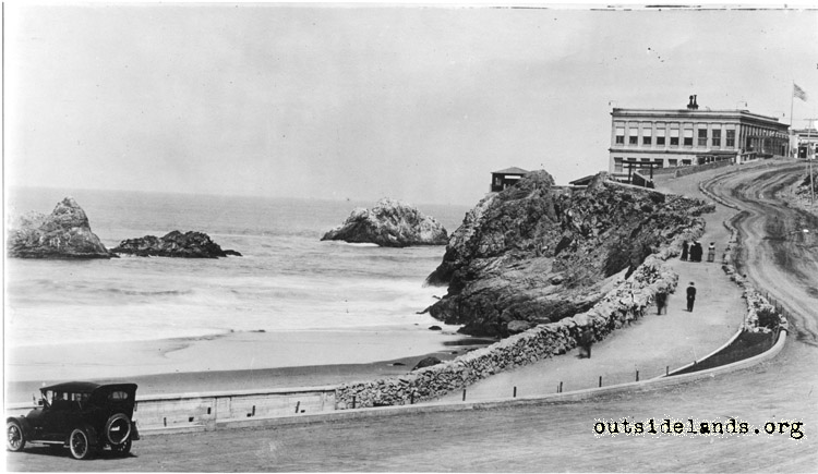Cliff House and Seal Rocks from Great Highway