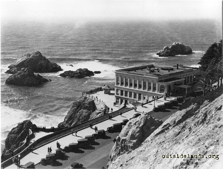 Third Cliff House and Seal Rocks from Sutro Heights
