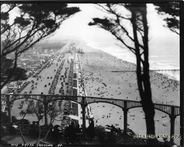 Great Highway and Ocean Beach from Sutro Heights