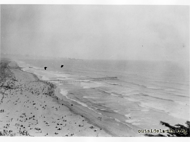 Ocean Beach viewed from Sutro Heights, before 1925.