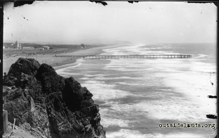 Ocean Beach. View looking south from the Cliff House
