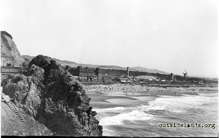 Ocean Beach. Looking southeast from Cliff House