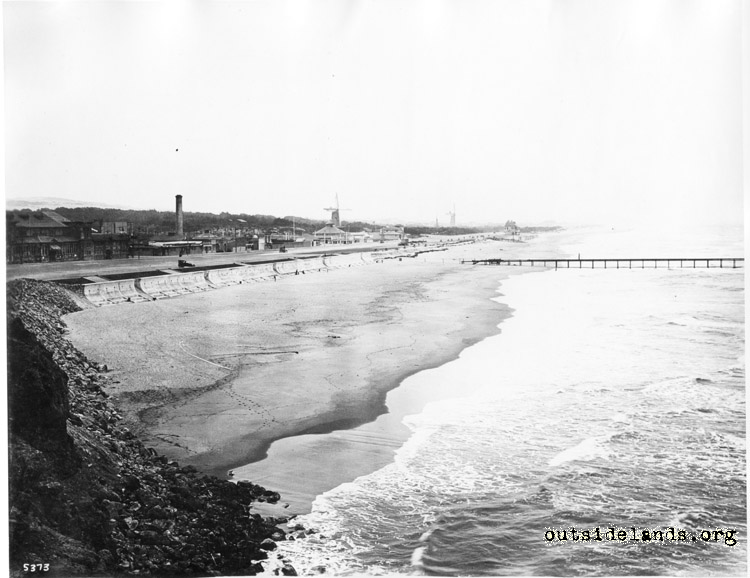 Ocean Beach. View southeast from near the Cliff House