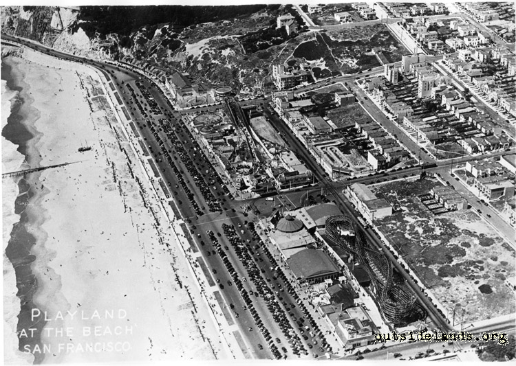 Playland at the Beach. Aerial view looking northeast