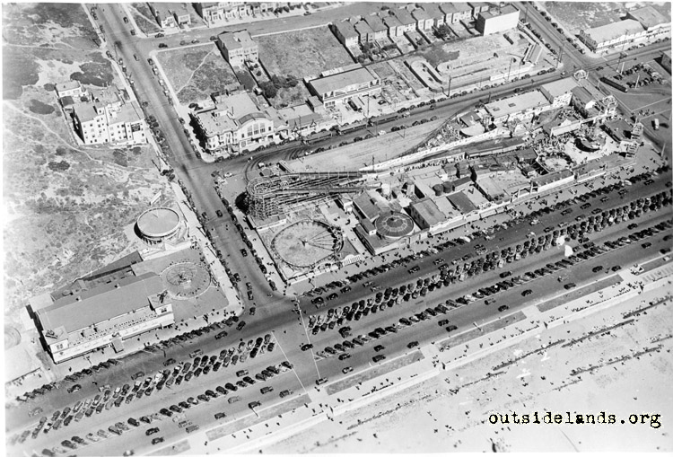 Aerial view of Great Highway and Balboa St.