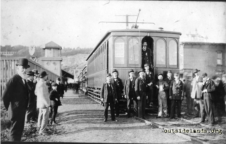 First Electric Streetcar, Ocean Beach